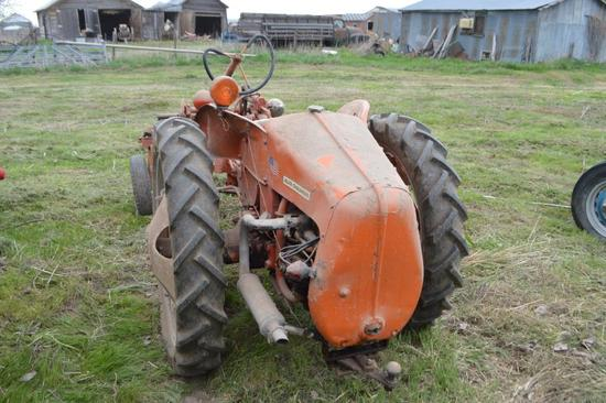 Allis Chalmers G Tractor with Cultivator,
