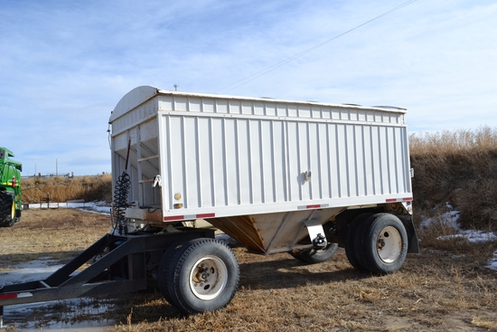 "16 ft. x 60"" Sides Single Hopper Pup Trailer"