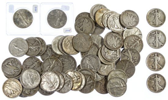 Walking Liberty 50c Silver Assortment