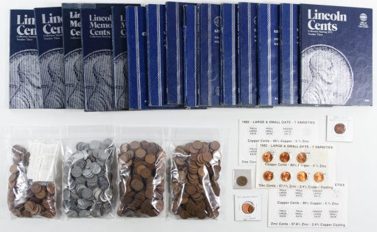 Flying Eagle, Indian Head, Wheat and Lincoln 1c Assortment