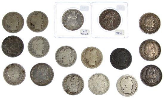 Capped Bust, Seated Liberty, Columbian and Barber 50c Assortment