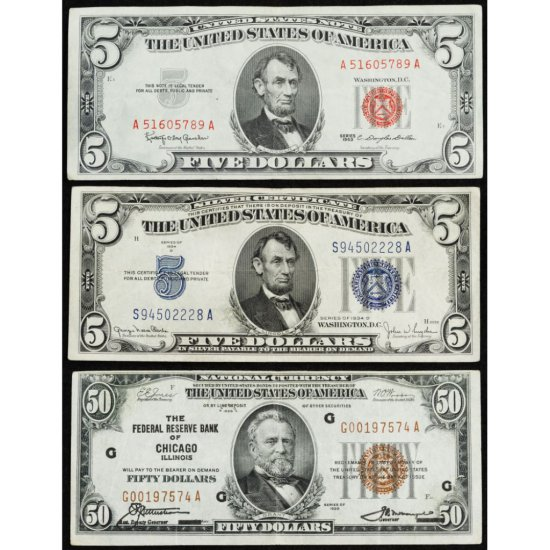 1929 $50 National Mis-stamped Note
