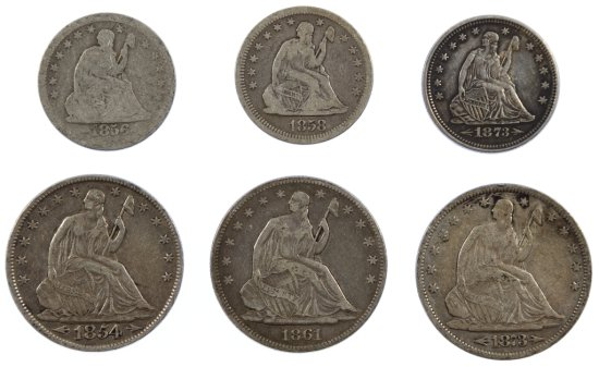 Seated Liberty 25c and 50c Assortment