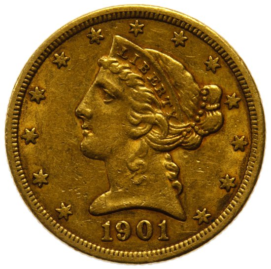 1901-S $5 Gold