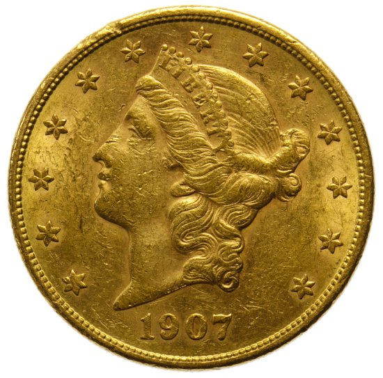 1907-S $20 Gold