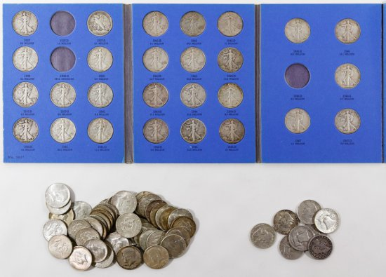 Barber, Walking Liberty, Franklin and Kennedy 50c Assortment