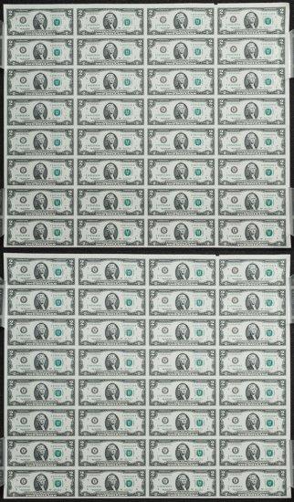 2003 $2 FRN Uncut Sheets
