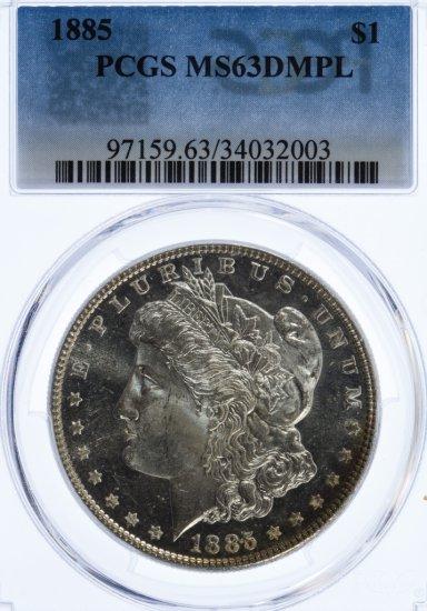 1885 $1 MS-63 DMPL PCGS