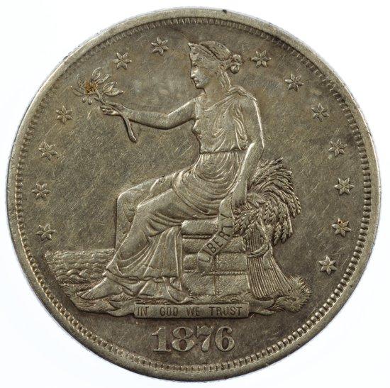 1876-S Trade $1 XF