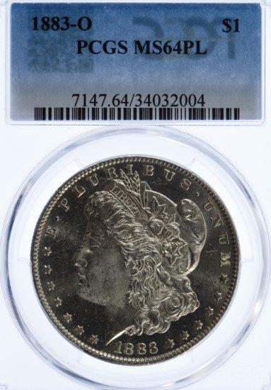 1883-O $1 MS-64PL PCGS