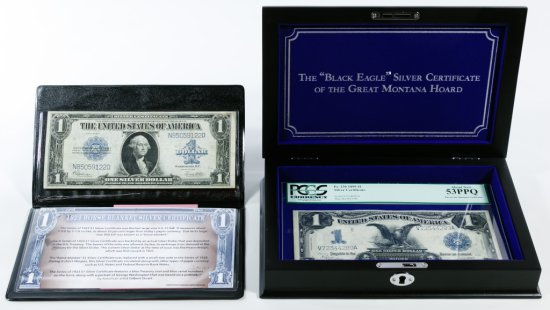 "1899 $1 ""Black Eagle"" Silver Certificate AU-53 PPQ PCGS"