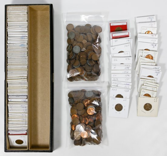 Indian Head and Lincoln Wheat 1c Assortment