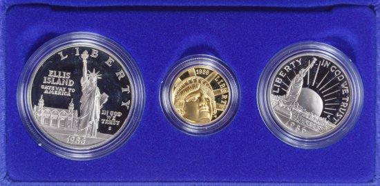 1986 US Liberty Gold Coin Set