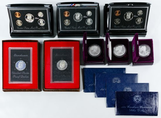 US $1 Silver Eagle and Proof Set Assortment
