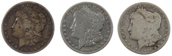 1903-S and 1904-S $1 G/VG Details