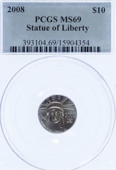 2008 $10 Platinum MS-69 PCGS
