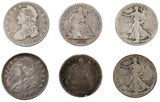 Bust, Seated Liberty and Walking Liberty 50c Assortment