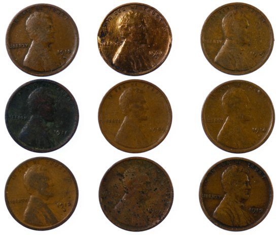 Lincoln Wheat 1c Assortment
