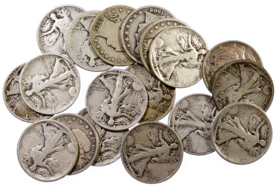 Barber and Walking Liberty 50c Assortment