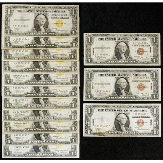 1934-A $1 'North African' Silver Certificate Assortment