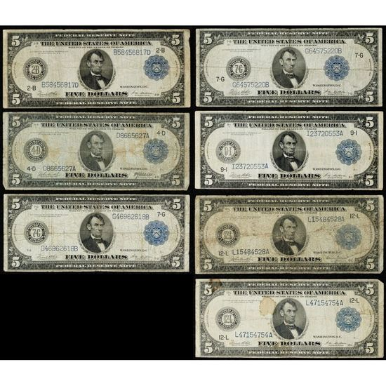1914 $5 FRN Assortment