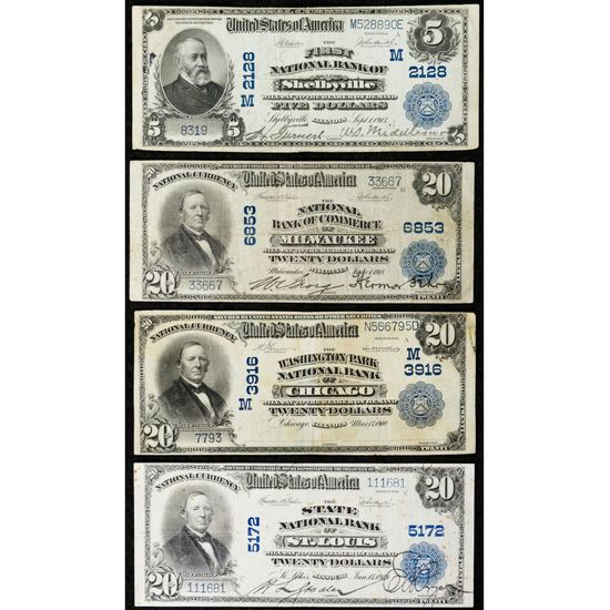 National Currency Assortment VF-XF