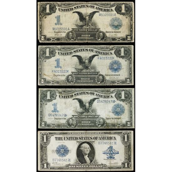 1899 $1 'Black Eagle' Silver Certificates VG-F