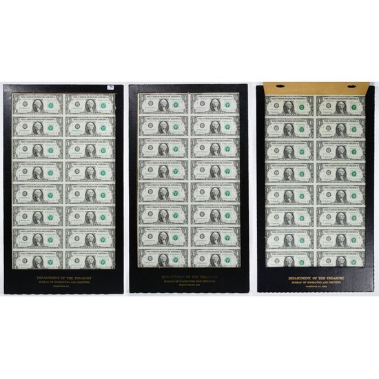 1981 $1 FRN Uncut Sheets