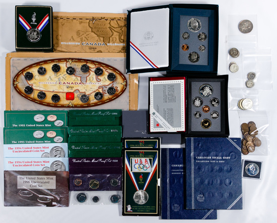 US and Canada Coin Assortment