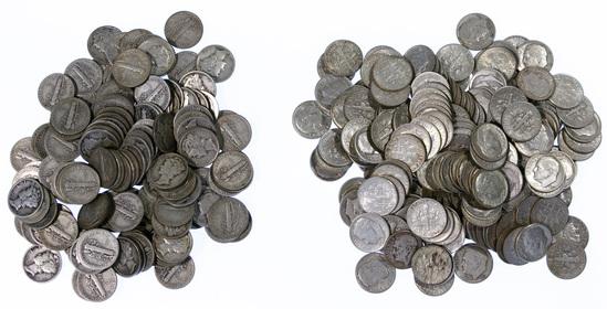 Mercury and Roosevelt 10c Assortment