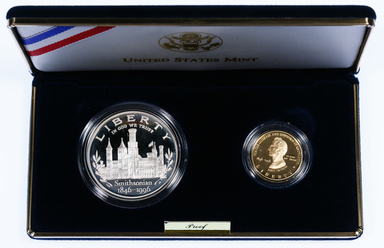 1996 Smithsonian Gold & Silver Proof Set