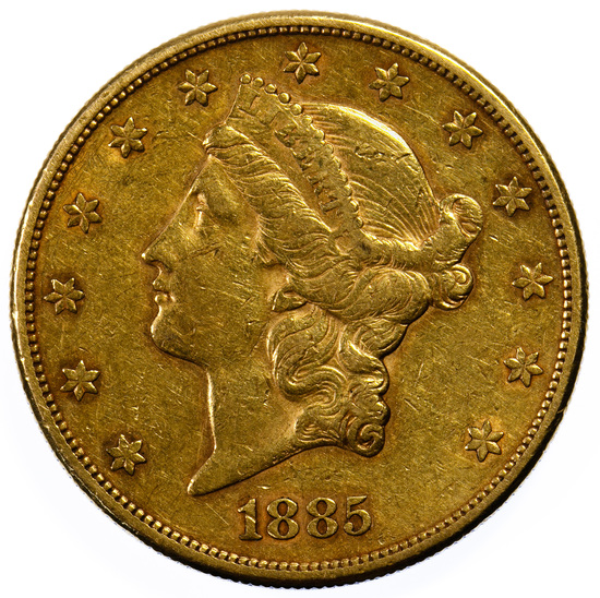 1885-S $20 Gold XF Details