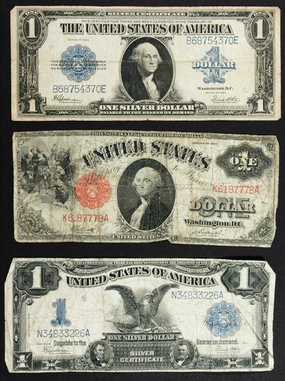 1899 $1 'Black Eagle' Silver Certificate