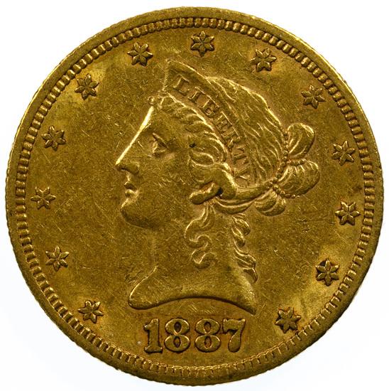 1887-S $10 Gold AU