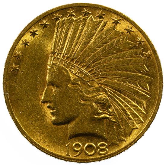 1908 $10 Gold Unc.