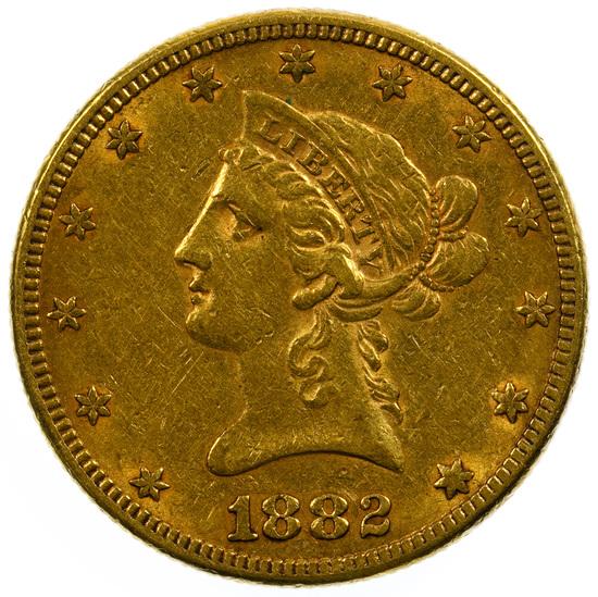 1882 $10 Gold AU