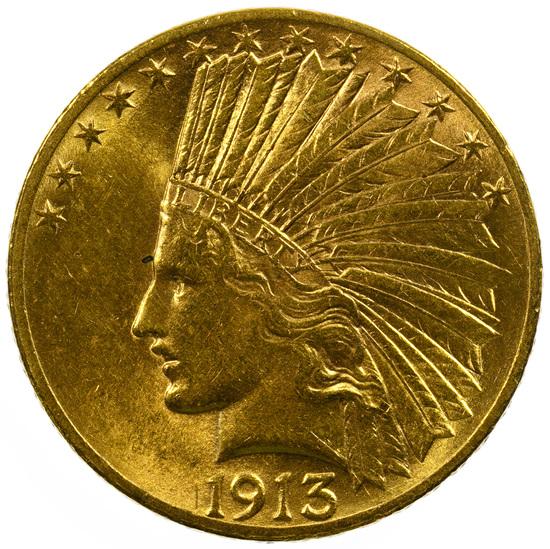 1913 $10 Gold Unc. Details