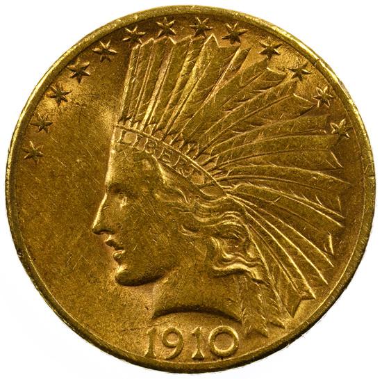 1910-S $10 Gold AU
