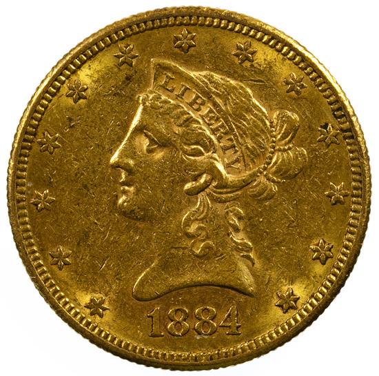 1884-S $10 Gold AU