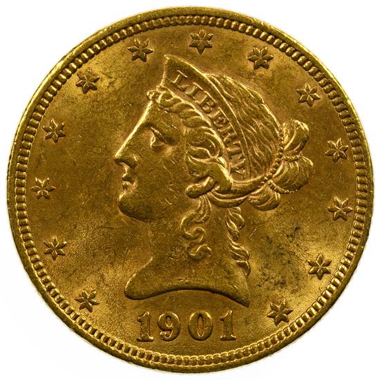 1901 $10 Gold AU Details
