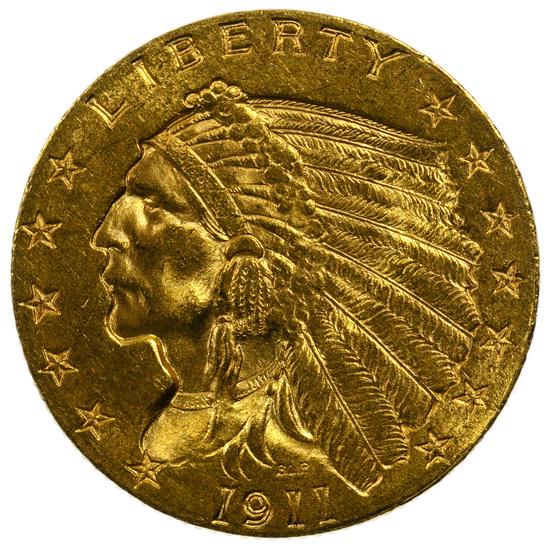 1911 $2 1/2 Gold Unc.