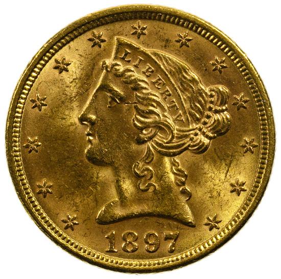 1897 $5 Gold Unc.