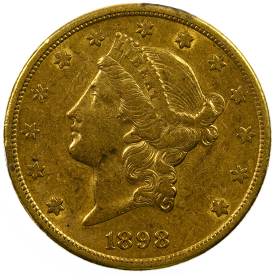 1898-S $20 Gold XF