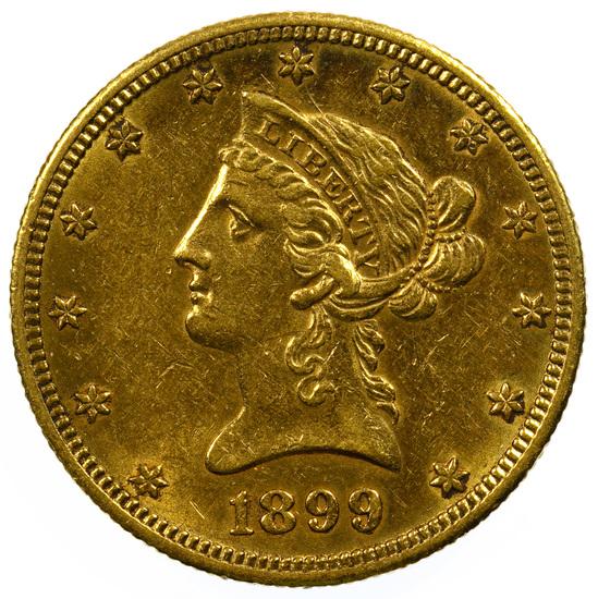 1899-O $10 Gold AU
