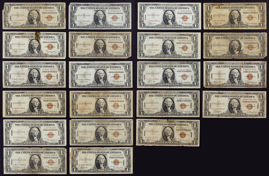 1935-A $1 Hawaii Notes VG-F
