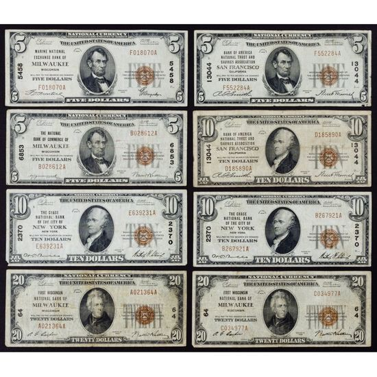 1929 National Note Assortment
