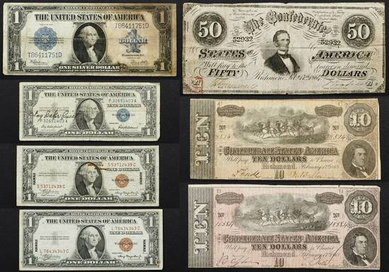 US and Confederate Currency Assortment