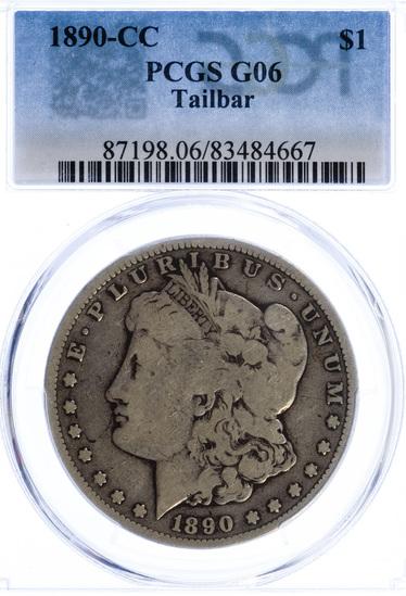 1890-CC $1 G-6 PCGS