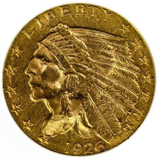1926 $2 1/2 Gold AU