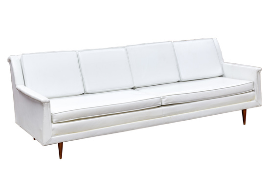 Kenmar White Vinyl Couch